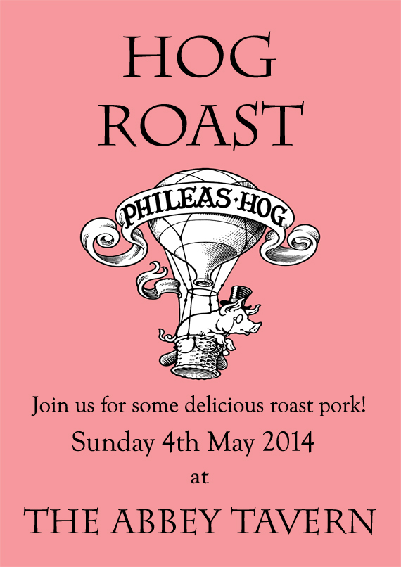 Hog Roast 4th May Poster small copy
